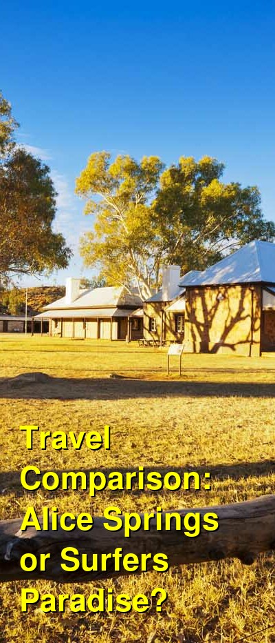 Alice Springs vs. Surfers Paradise Travel Comparison