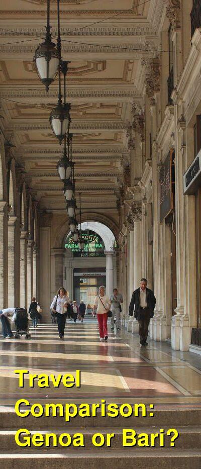 Genoa vs. Bari Travel Comparison