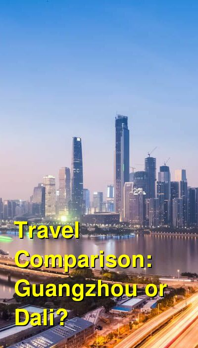 Guangzhou vs. Dali Travel Comparison