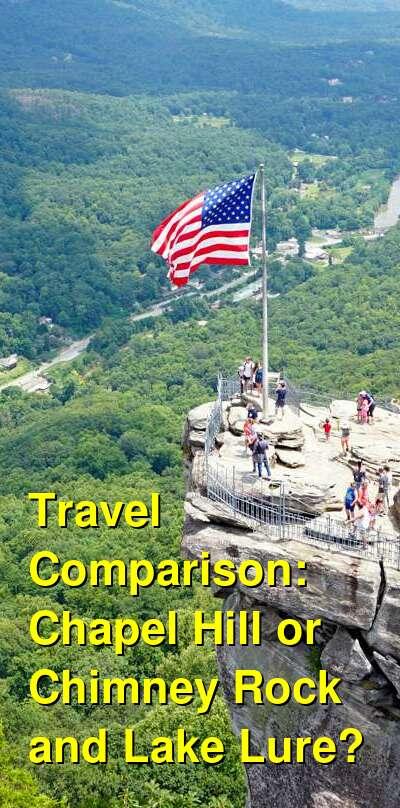 Chapel Hill vs. Chimney Rock and Lake Lure Travel Comparison