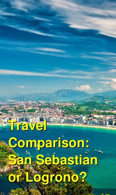 San Sebastian vs. Logrono Travel Comparison