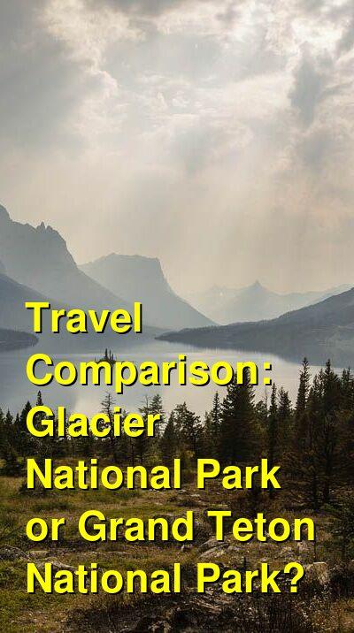 Glacier National Park vs. Grand Teton National Park Travel Comparison