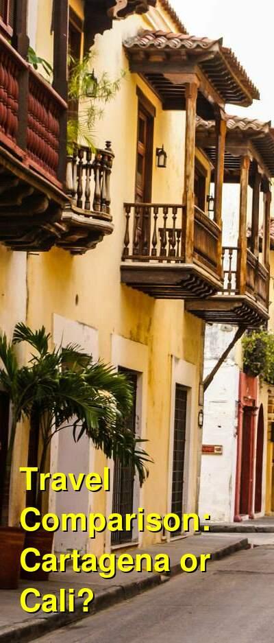 Cartagena vs. Cali Travel Comparison