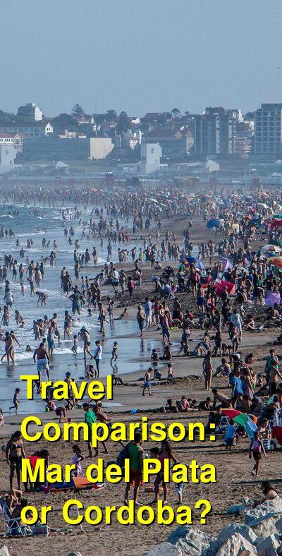 Mar del Plata vs. Cordoba Travel Comparison