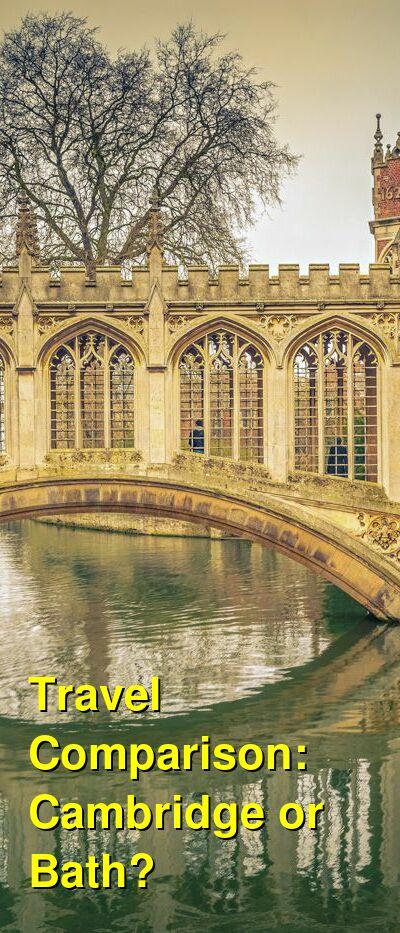 Cambridge vs. Bath Travel Comparison