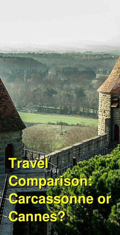 Carcassonne vs. Cannes Travel Comparison