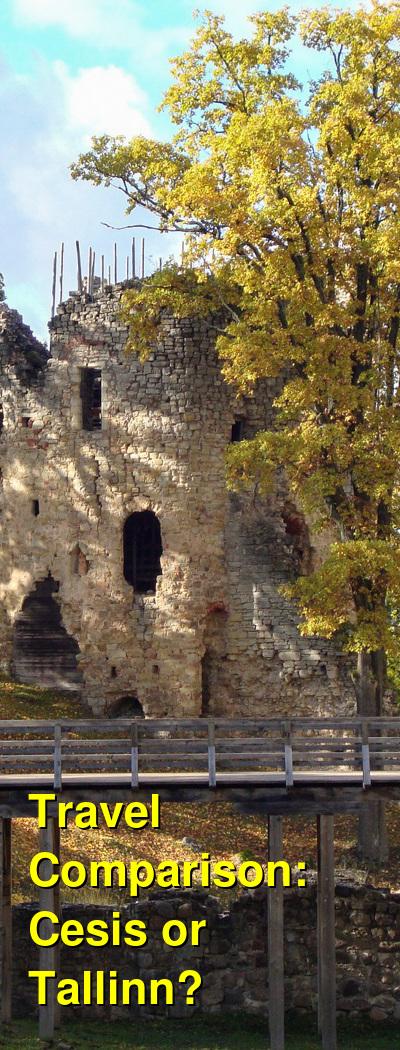 Cesis vs. Tallinn Travel Comparison
