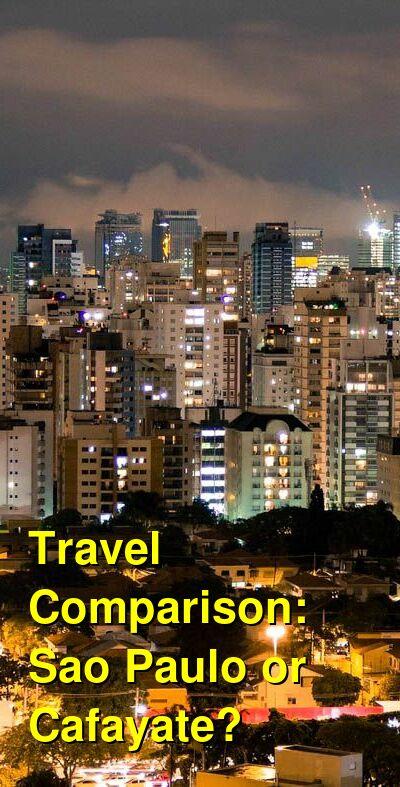 Sao Paulo vs. Cafayate Travel Comparison