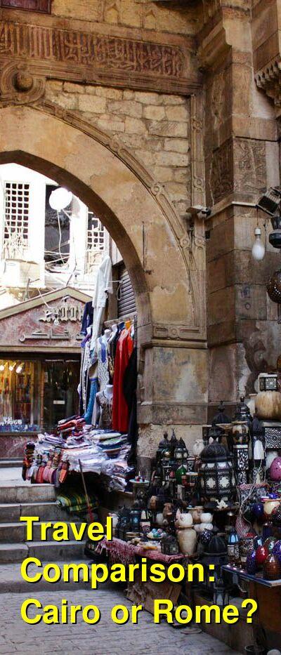 Cairo vs. Rome Travel Comparison