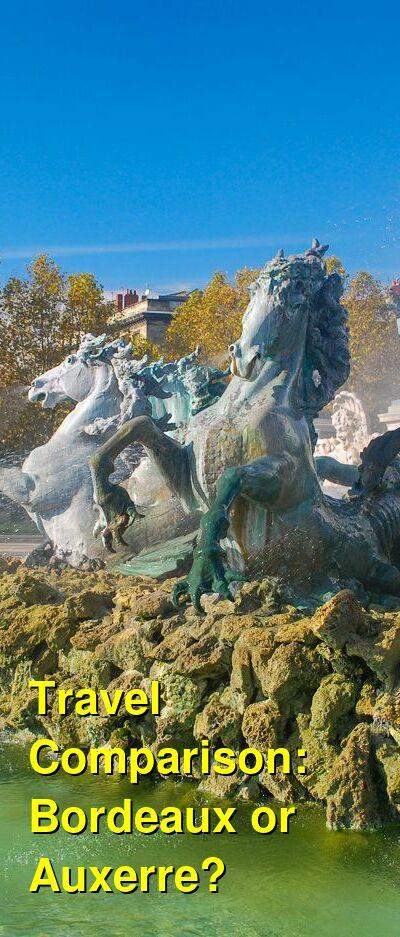 Bordeaux vs. Auxerre Travel Comparison