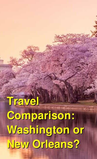 Washington vs. New Orleans Travel Comparison