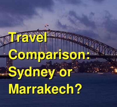 Sydney vs. Marrakech Travel Comparison