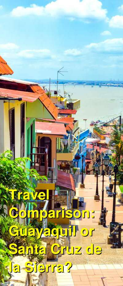 Guayaquil vs. Santa Cruz de la Sierra Travel Comparison