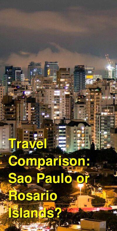 Sao Paulo vs. Rosario Islands Travel Comparison
