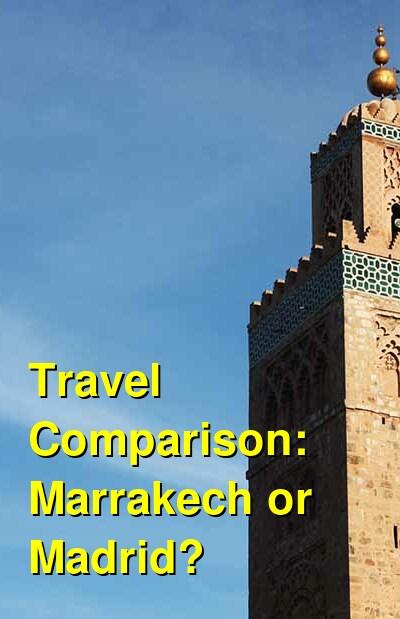Marrakech vs. Madrid Travel Comparison