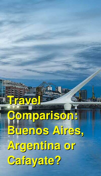 Buenos Aires, Argentina vs. Cafayate Travel Comparison