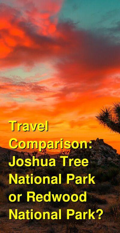 Joshua Tree National Park vs. Redwood National Park Travel Comparison