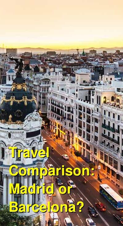 Madrid vs. Barcelona Travel Comparison