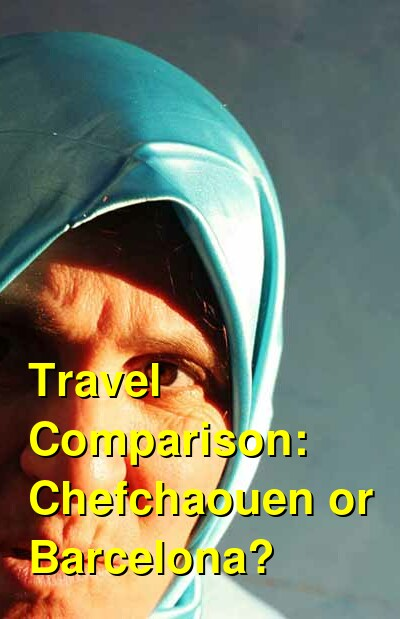 Chefchaouen vs. Barcelona Travel Comparison