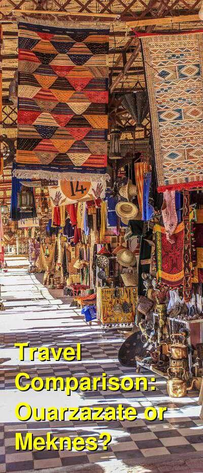 Ouarzazate vs. Meknes Travel Comparison