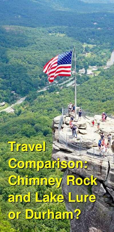 Chimney Rock and Lake Lure vs. Durham Travel Comparison