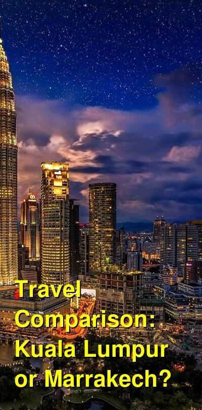 Kuala Lumpur vs. Marrakech Travel Comparison