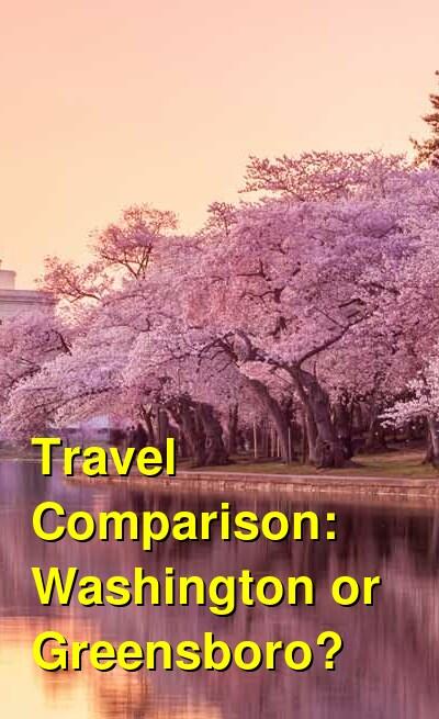 Washington vs. Greensboro Travel Comparison
