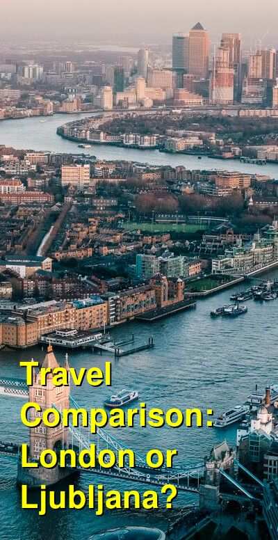 London vs. Ljubljana Travel Comparison