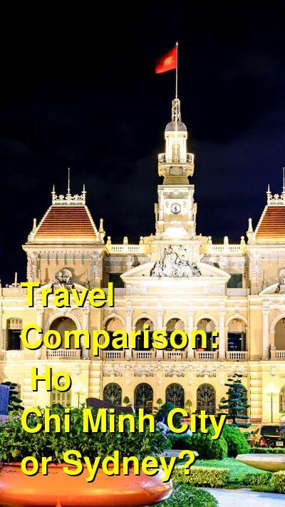 Ho Chi Minh City vs. Sydney Travel Comparison