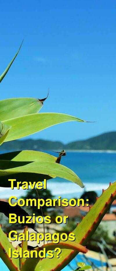 Buzios vs. Galapagos Islands Travel Comparison