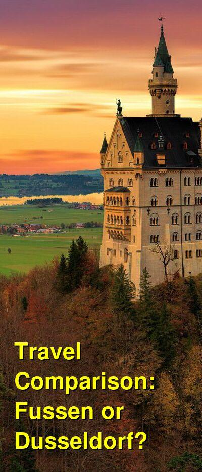 Fussen vs. Dusseldorf Travel Comparison