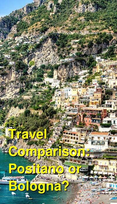 Positano vs. Bologna Travel Comparison