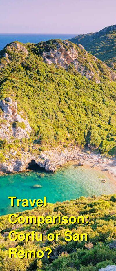 Corfu vs. San Remo Travel Comparison