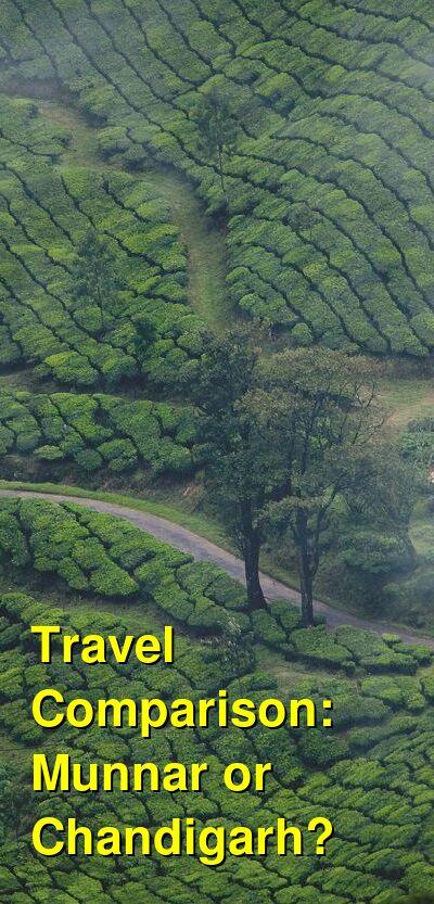 Munnar vs. Chandigarh Travel Comparison