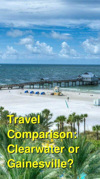 Clearwater vs. Gainesville Travel Comparison