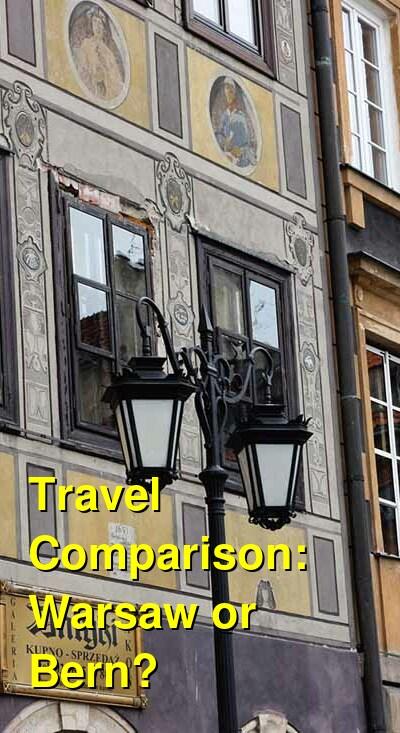 Warsaw vs. Bern Travel Comparison