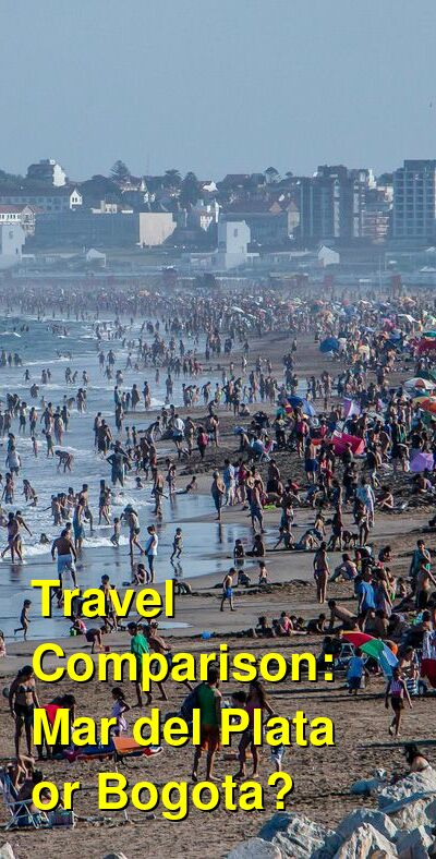 Mar del Plata vs. Bogota Travel Comparison