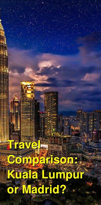 Kuala Lumpur vs. Madrid Travel Comparison
