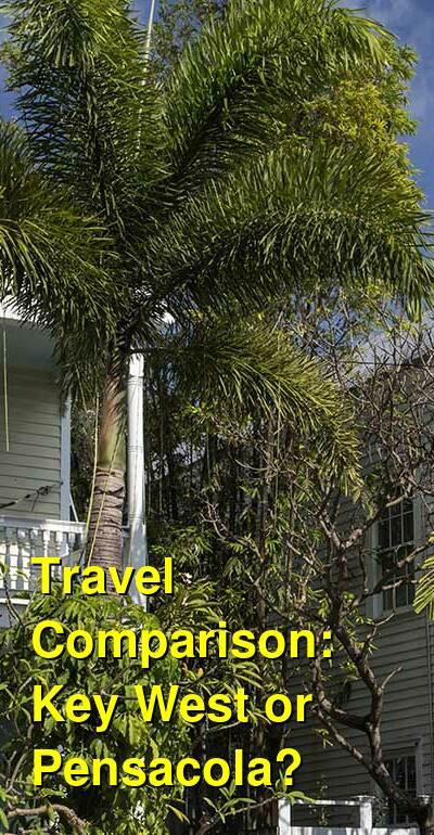 Key West vs. Pensacola Travel Comparison