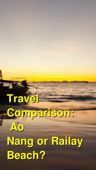 Ao Nang vs. Railay Beach Travel Comparison