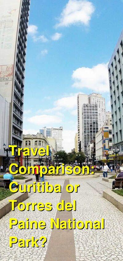 Curitiba vs. Torres del Paine National Park Travel Comparison