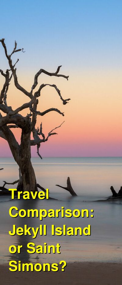 Jekyll Island vs. Saint Simons Travel Comparison