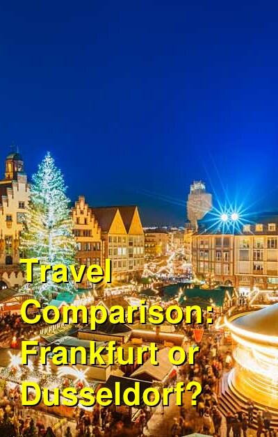 Frankfurt vs. Dusseldorf Travel Comparison
