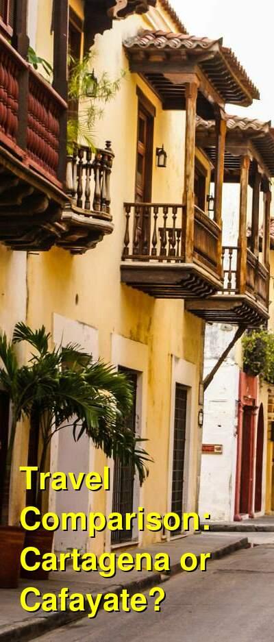 Cartagena vs. Cafayate Travel Comparison