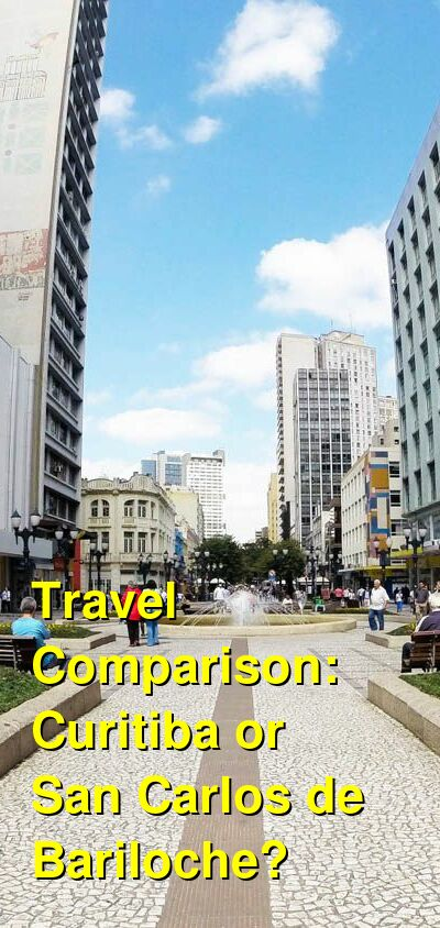 Curitiba vs. San Carlos de Bariloche Travel Comparison