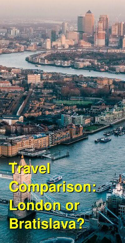London vs. Bratislava Travel Comparison