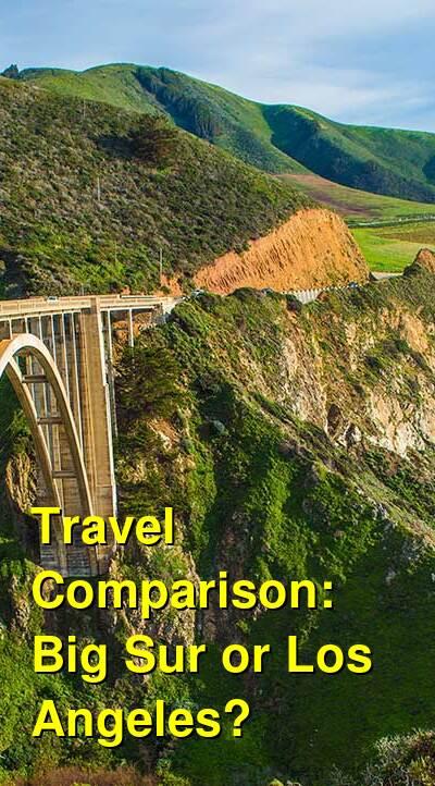 Big Sur vs. Los Angeles Travel Comparison