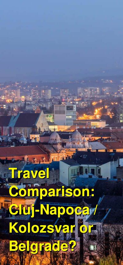 Cluj-Napoca / Kolozsvar vs. Belgrade Travel Comparison