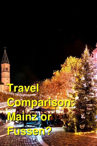 Mainz vs. Fussen Travel Comparison