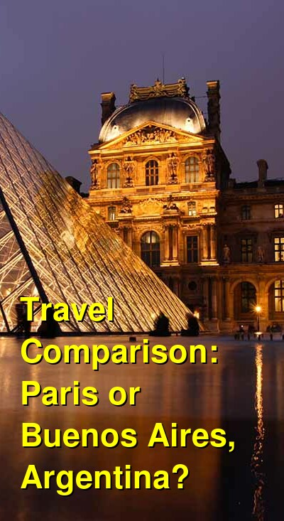 Paris vs. Buenos Aires, Argentina Travel Comparison